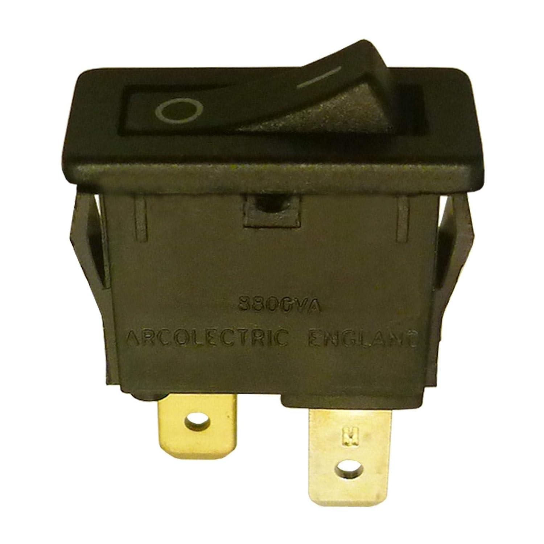 SPST Kleiner Wippschalter 7 x 19 mm Ein-Aus 10 A 250 VAC Arcolectric