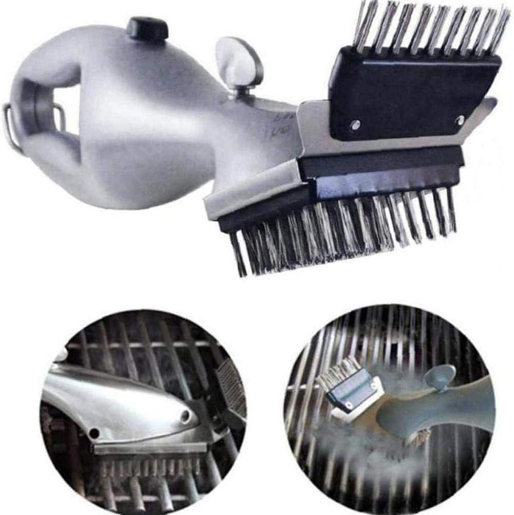 MRXW El Acero Inoxidable de Barbacoa Barbacoa Cepillo de Limpieza Cepillo de Barbacoa al Aire Libre Accesorios de Parrilla limpiadora a Vapor Utensilios de Cocina Barbacoa De Acuerdo a la in.