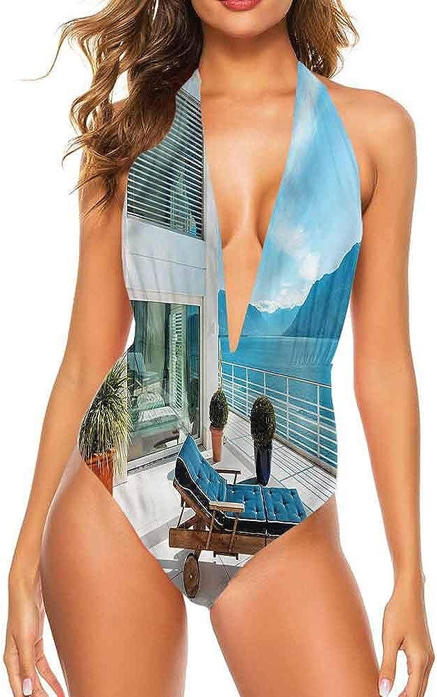 Adorise Ensemble de maillot de bain pour femme - Maison de ville de La Havane pour bronzer à la piscine Multicolore 05