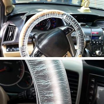 impermeabile e trasparente Coprivolante in plastica usa e getta coprivolante universale per auto