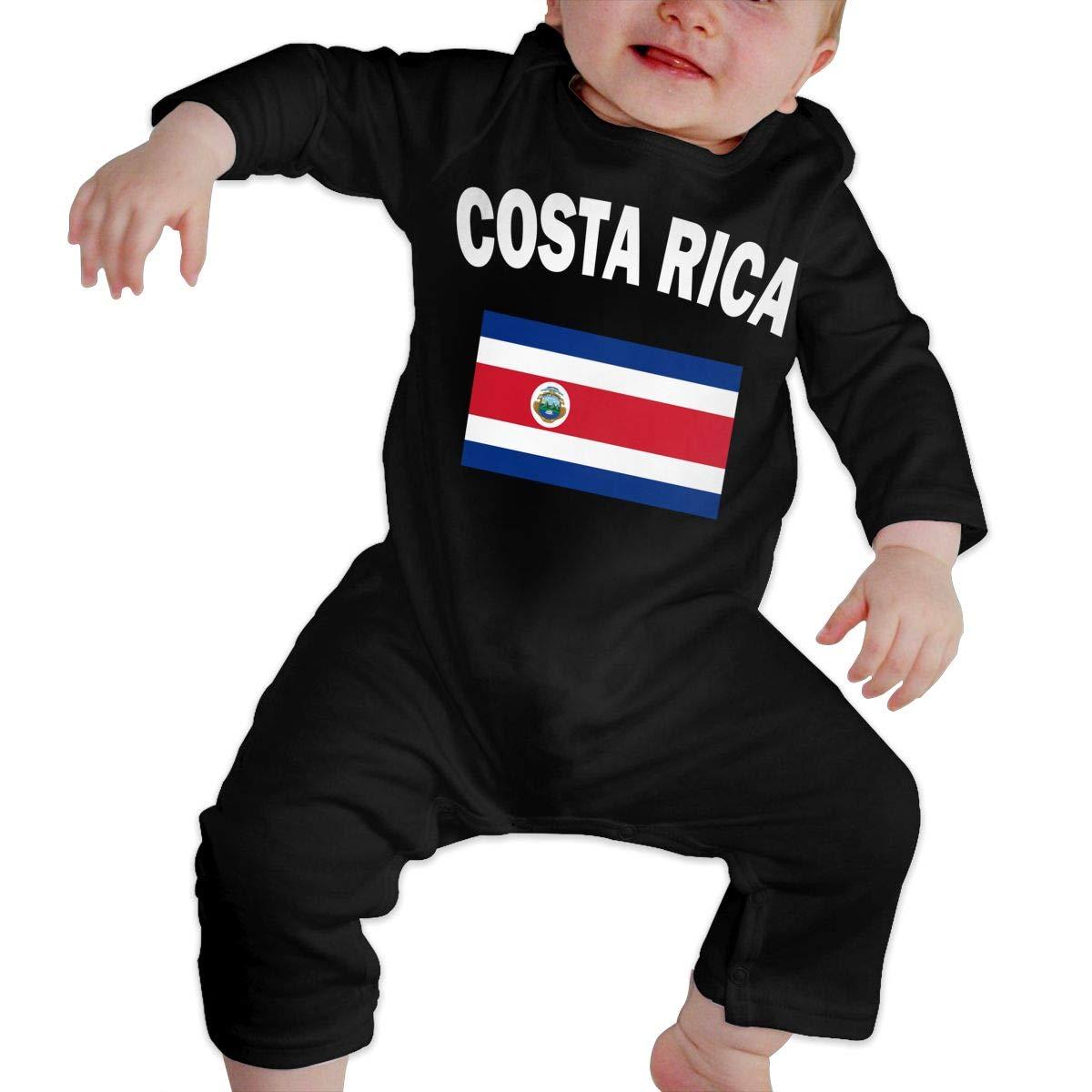 LBJQ8 Costa Rica Flag Baby Girls Long Sleeve Romper Jumpsuit