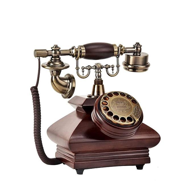 FJH Retro Teléfono de línea Fija Máquina Moda Creativo Antiguo ...