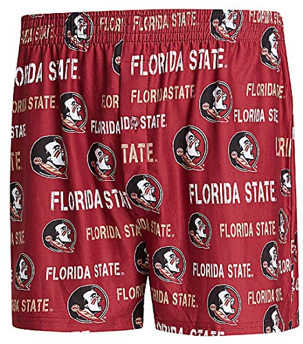 Concepts Sports NCAA Men's Team Color Midfield Boxer Shorts (X-Large, Florida State Seminoles)