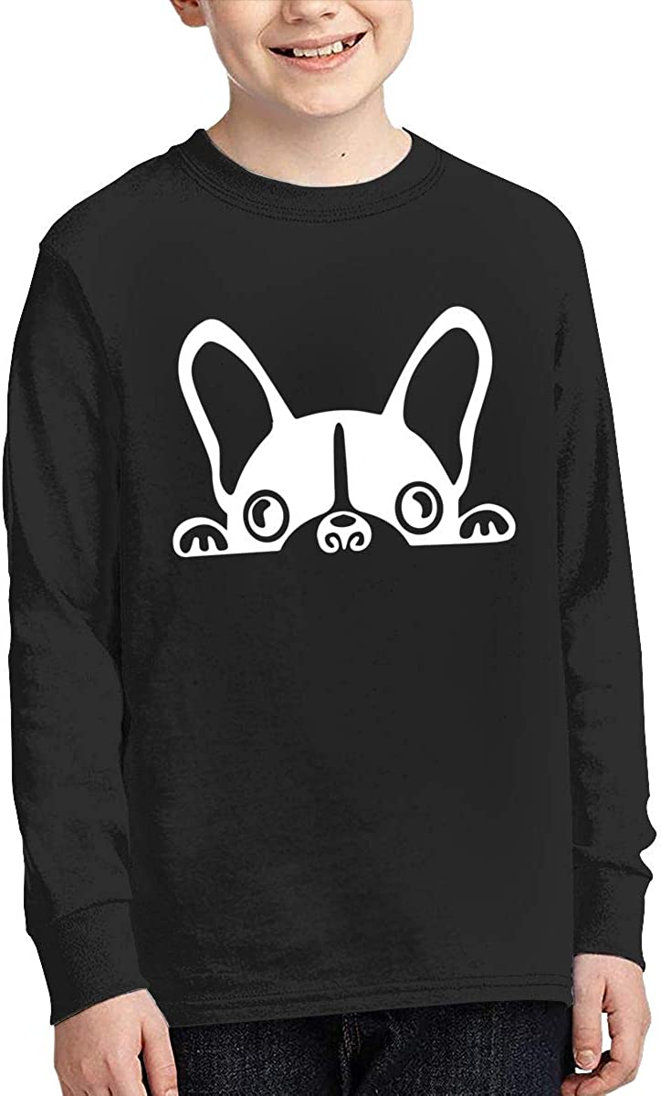Teenagers Teen Girls Boston Terrier Printed Long Sleeve 100/% Cotton Clothes
