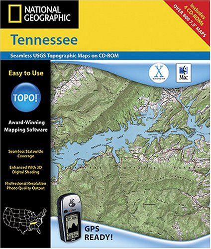 National Geographic TOPO! Tennessee Map CD-ROM (Mac)