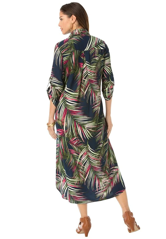 Roamans Womens Plus Size Safari Dress At Amazon Womens Clothing Store