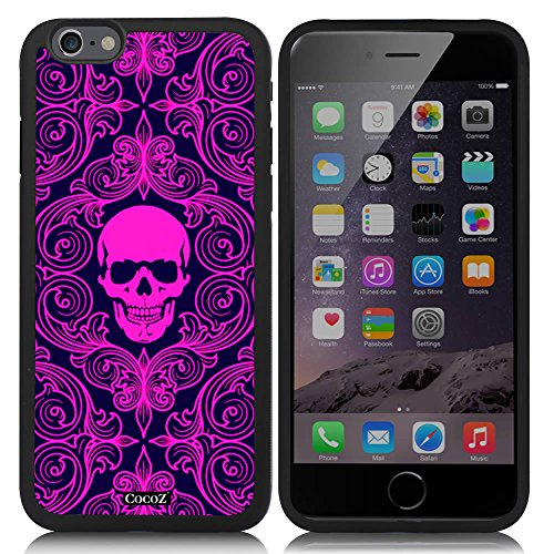Price comparison product image New Apple iPhone 6 s 4.7-inch CocoZ® Case Fashion personality skeleton skull TUP Material Case (Black TPU& Fashion skull 21)