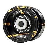 GGG N12 Alloy Bearing Beboo Yo-Yos Ball with 3 Strings Durable Portable Black Gold Yoyo Ball Adult Kid Toy