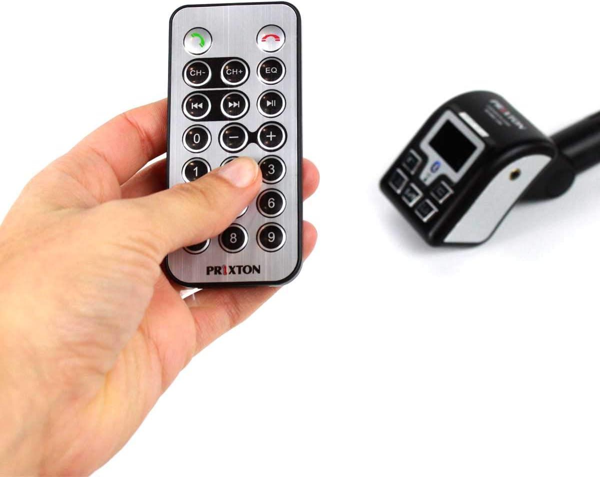 PRIXTON - Manos Libres Bluetooth para Coche y Transmisor FM y de ...