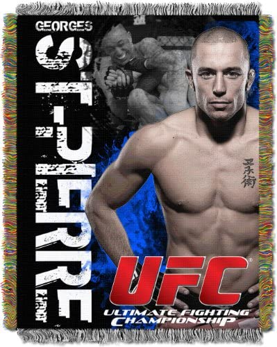 UFC George St. Pierre 48-Inch-by-60-Inch Acrylic Tapestry Throw by The Northwest Company
