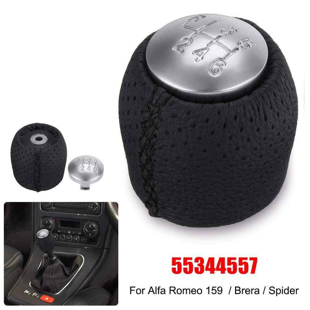 Brera Spider Red 05-11 Sinnper 6 pomello del Cambio in Pelle per Alfa Romeo 159
