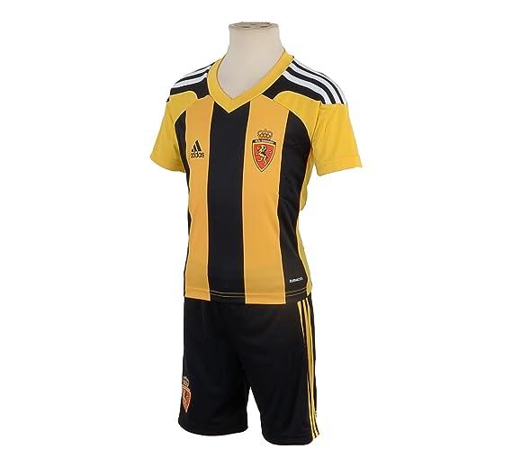 adidas - Equipación del Real Zaragoza negro, amarillo Talla:98 ...