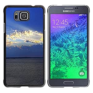 Paccase / SLIM PC / Aliminium Casa Carcasa Funda Case Cover - Nature Cloud Sunshine - Samsung GALAXY ALPHA G850