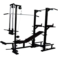 MADHRUN BodyKare A Tower with Push up DIPS and Workout with 20 in 1 Bench (Multicolour)