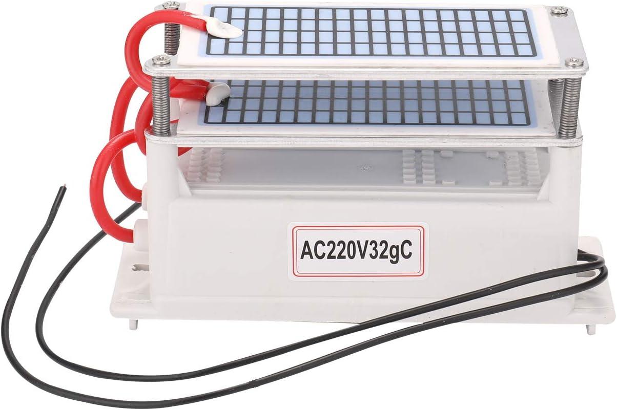 KKmoon Generador de Ozono,Ozonizador de Placa Cerámica,Purificador de Aire,Esterilizado iIntegrada 15g/20g/32g