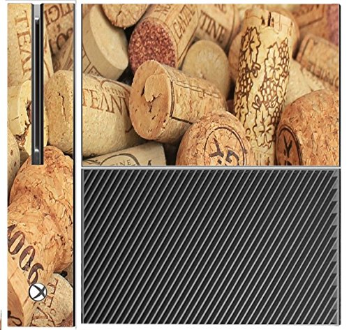 Price comparison product image Wine and Champagne Corks Pattern Background Xbox One Console Vinyl Decal Sticker Skin by Moonlight Printing