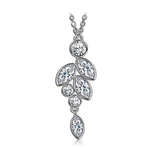 """J. Nina """"tranquilidad"""" diseño de gotas de collar con colgante. Fabricada"""