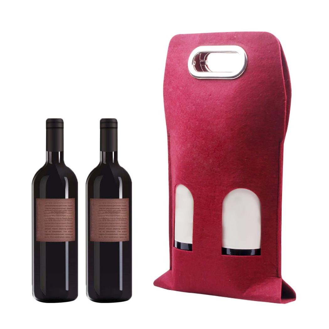 Amazon.com: Bolsas, 2-Bottle Rojo Vino Bolsa de regalo ...