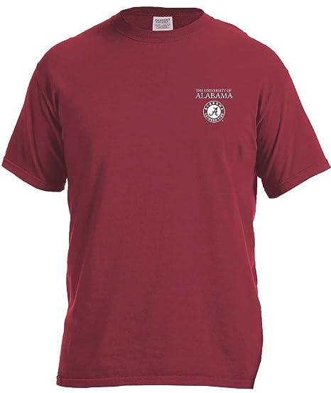 finest selection 39b6d 1fe2f NCAA Alabama Crimson Tide Simple Circle Comfort Color Short Sleeve T-Shirt,  Chili,