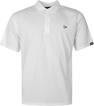 Dunlop - Polo - Manga corta - para hombre blanco X-Large: Amazon ...