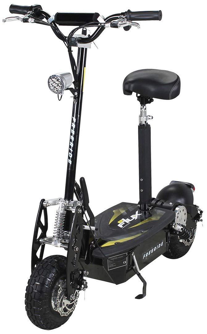 Patinete eléctrico E-Flux Freeride 1000 W 48 V con luz y rueda libre