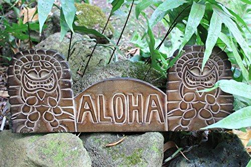 Aloha Tiki Sign - Wooden