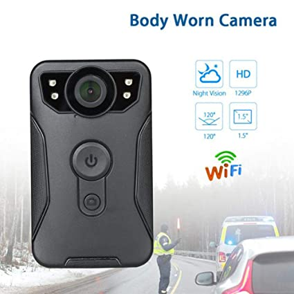 Body Camara Espia IR Night Vision IP56 120 Degree 1296P HD WiFi Mini Camera Police Wireless