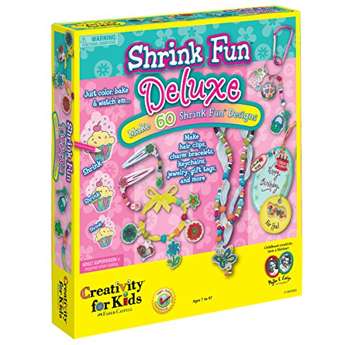 Creativity for Kids Shrink Fun Deluxe - Shrink Plastic Deluxe Activity Kit -