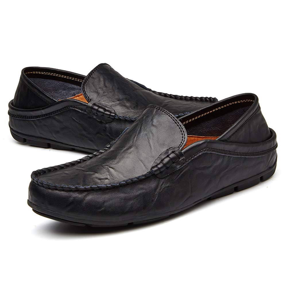 Männer Fashion Driving Design Loafer PU Einlegesohle Einfaches Design Driving Business Mokassins Schuhe Schwarz dee62b