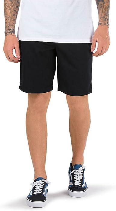 Amazon Com Vans Pantalones Cortos Elasticos Negro Color Negro Clothing