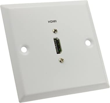 kenable HDMI Pared Placa Montar Placa Frontal Enchufe para HDMI Cables En Blanco: Amazon.es: Electrónica