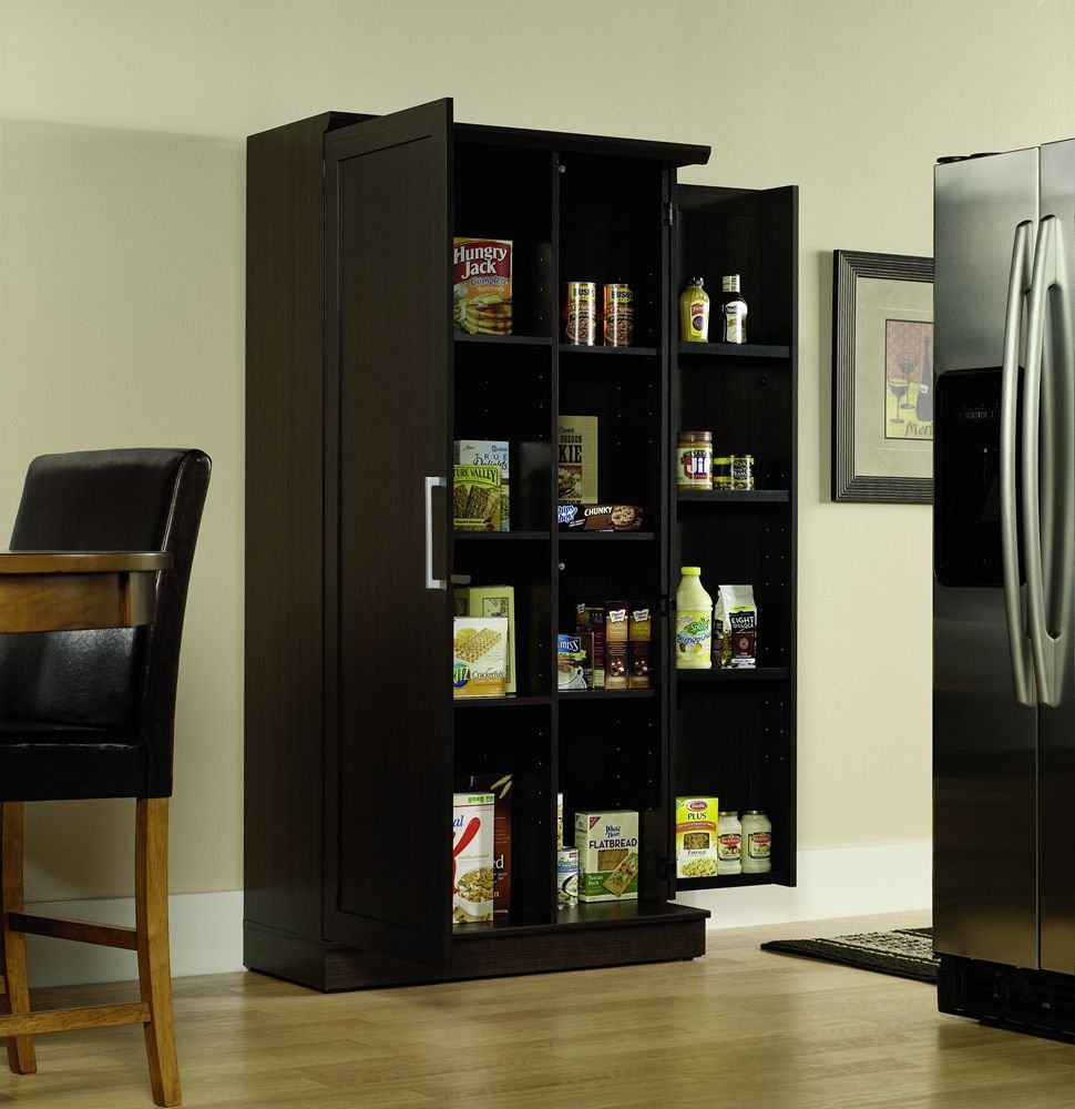 Sauder Kitchen Furniture Amazoncom Sauder Double Door Storage Cabinet Large Dakota Oak