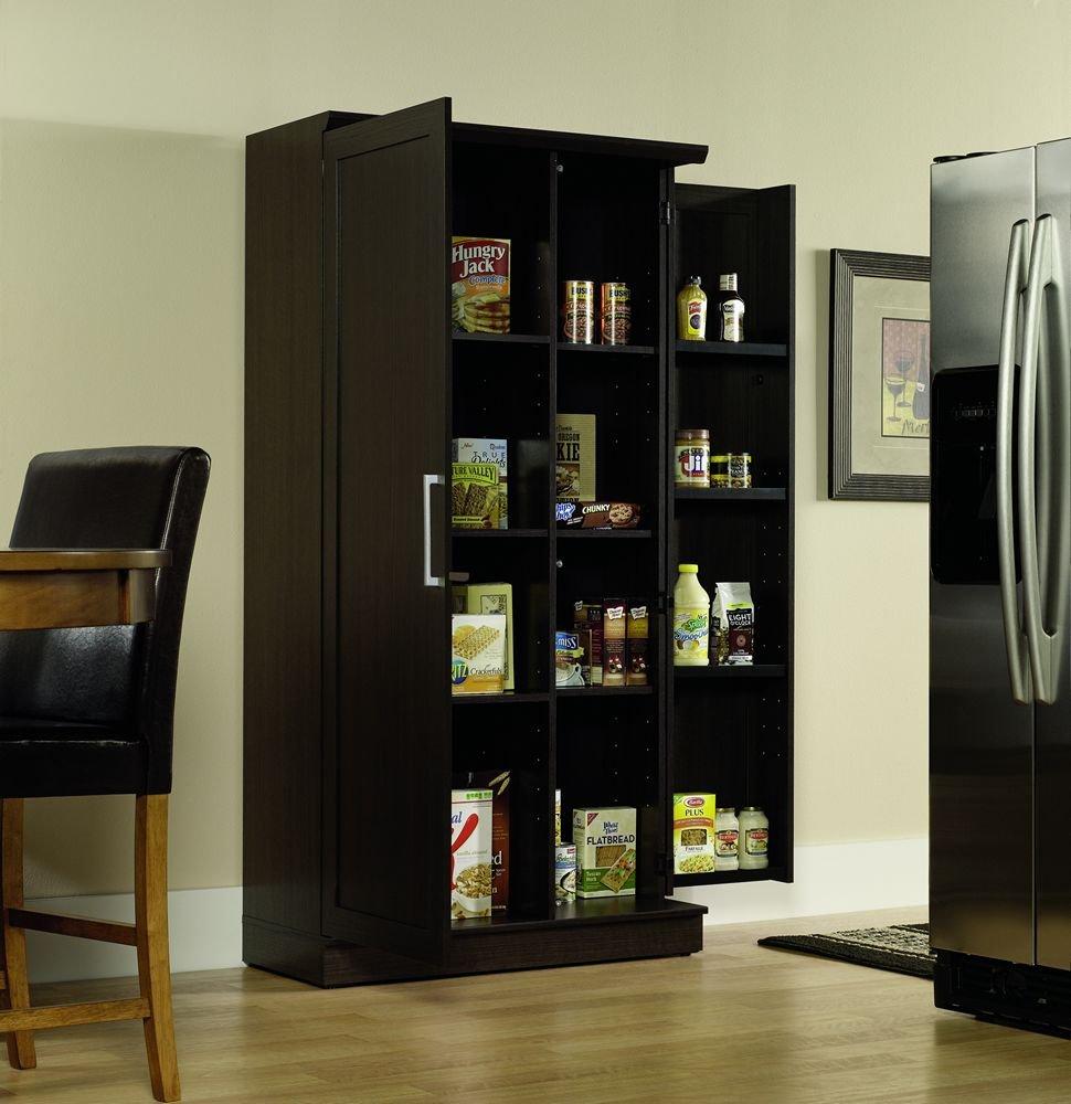 Sauder Kitchen Furniture Amazoncom Sauder Double Door Storage Cabinet Large Dakota Oak
