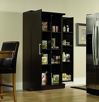 sauder double door storage cabinet large dakota oak