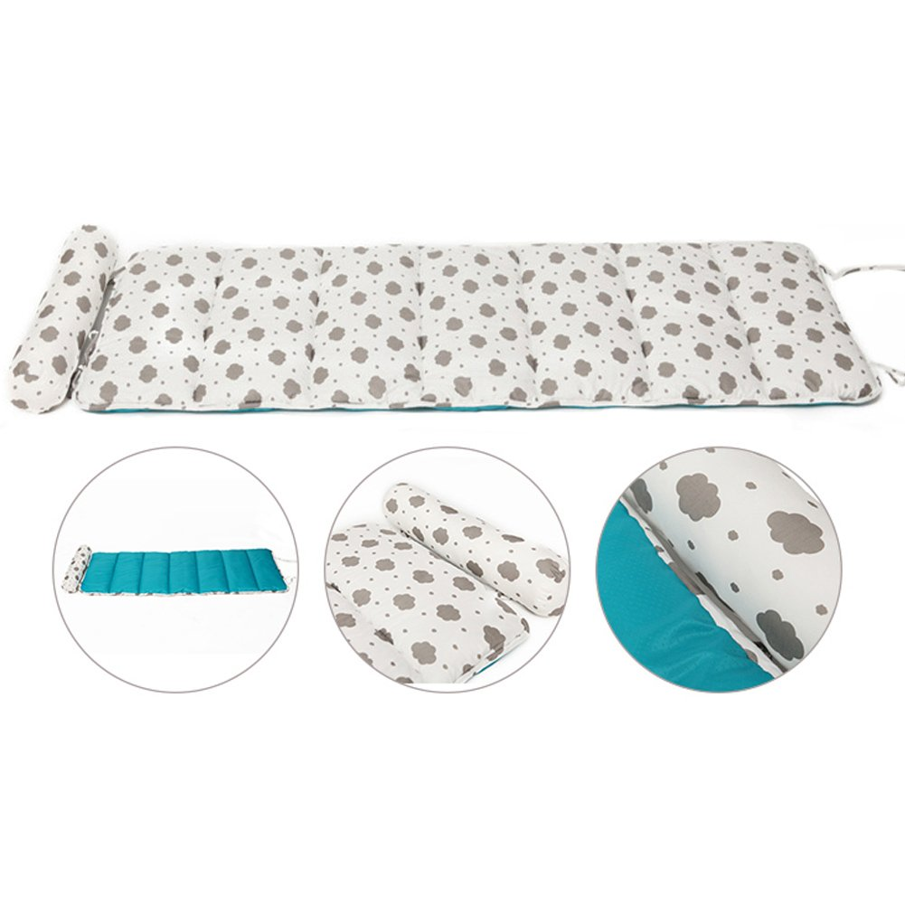 OLizee Super Soft Adult Sleeping Mat Nap Mat Removable Pillow (Blue Star)