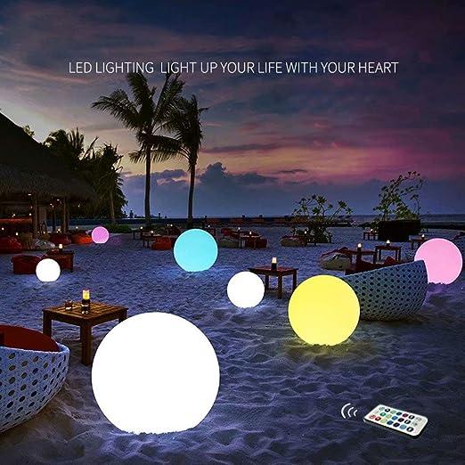 Juguete de piscina LED inflable y flotante de pelota de playa 13 colores que se iluminan con control remoto, pelota de playa de 16 `` para decoración de favores de fiesta: Amazon.es: Hogar