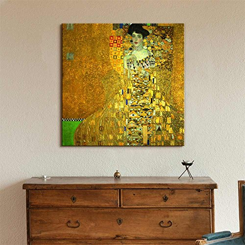 Portrait of Adele Bloch Bauer I by Gustav Klimt Print Famous Oil Painting Reproduction
