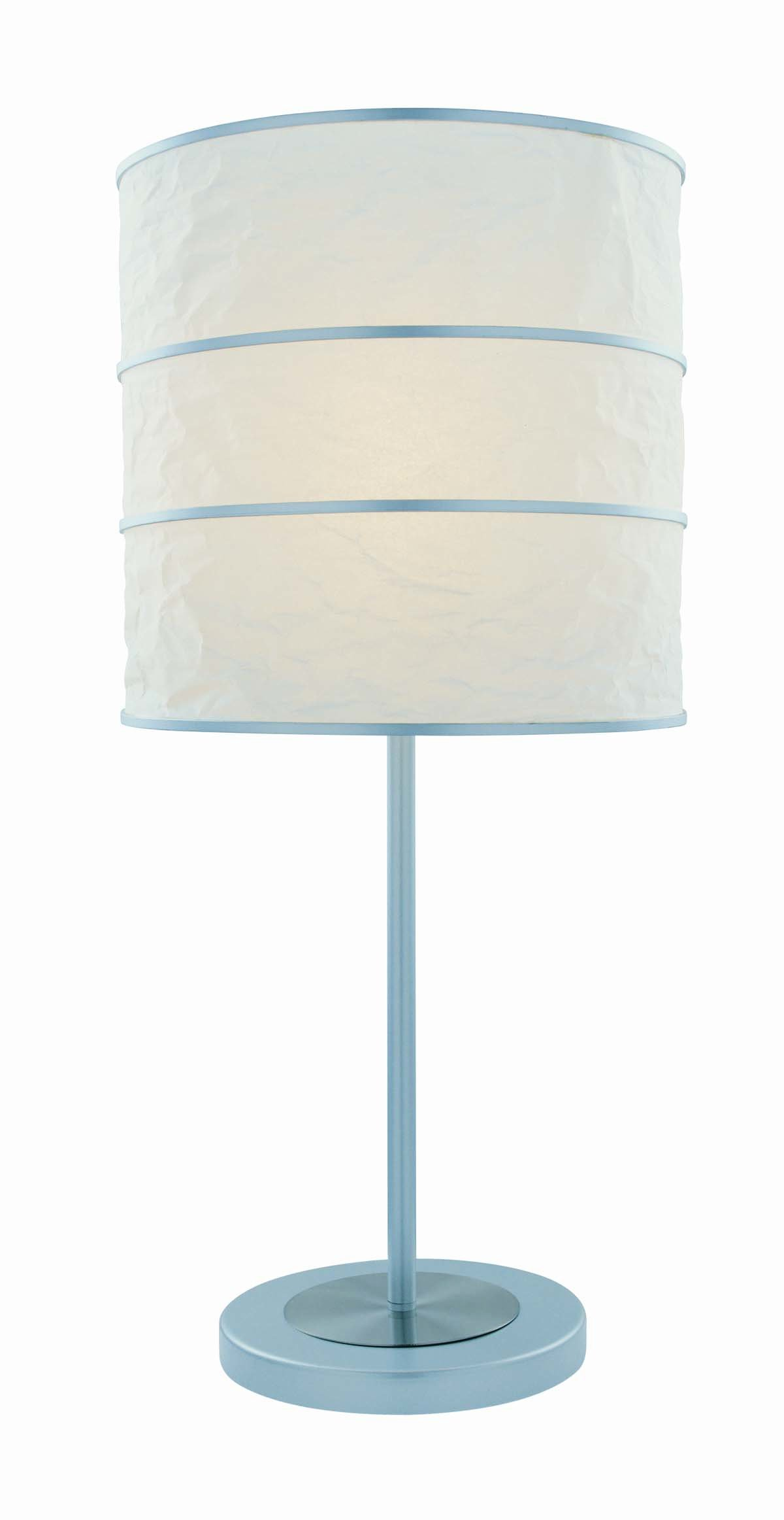 Lite Source Inc LS-21430 Sedlar Table Lamp, Polished Steel And Silver with White Paper Shade, Multicolored