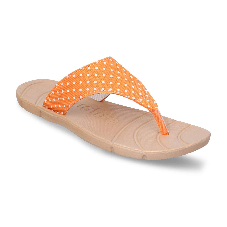 EVA Orange Beige Slippers at Amazon