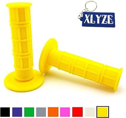 XLYZE Yellow Universal 7//8 22mm Throttle Handle Grips Soft Rubber for 50cc 70cc 110cc 125cc Pit MX Dirt Bike CRF50 XR50 Apollo Taotao Coolster