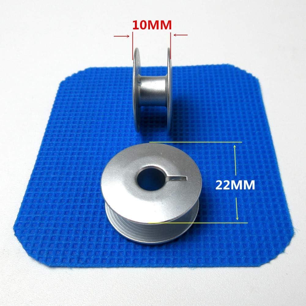 25 bobines en aluminium avec bo/îte #10079 pour Pfaff 141,142,145,146,175,240,341,353,441,451