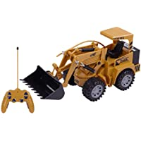 MM RETAILS RC Excavator Bulldozer, 1:24 Simulation Remote Control Truck, 5 Channel Full Functional with Lights and Sounds, Engineering Construction Toy Car, Best Racing Gift Toys for Boys & Girls