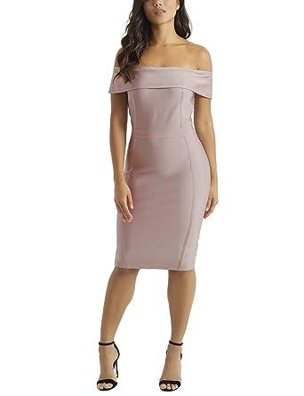 LIPSY Womens Bardot Bandage Dress - Pink -