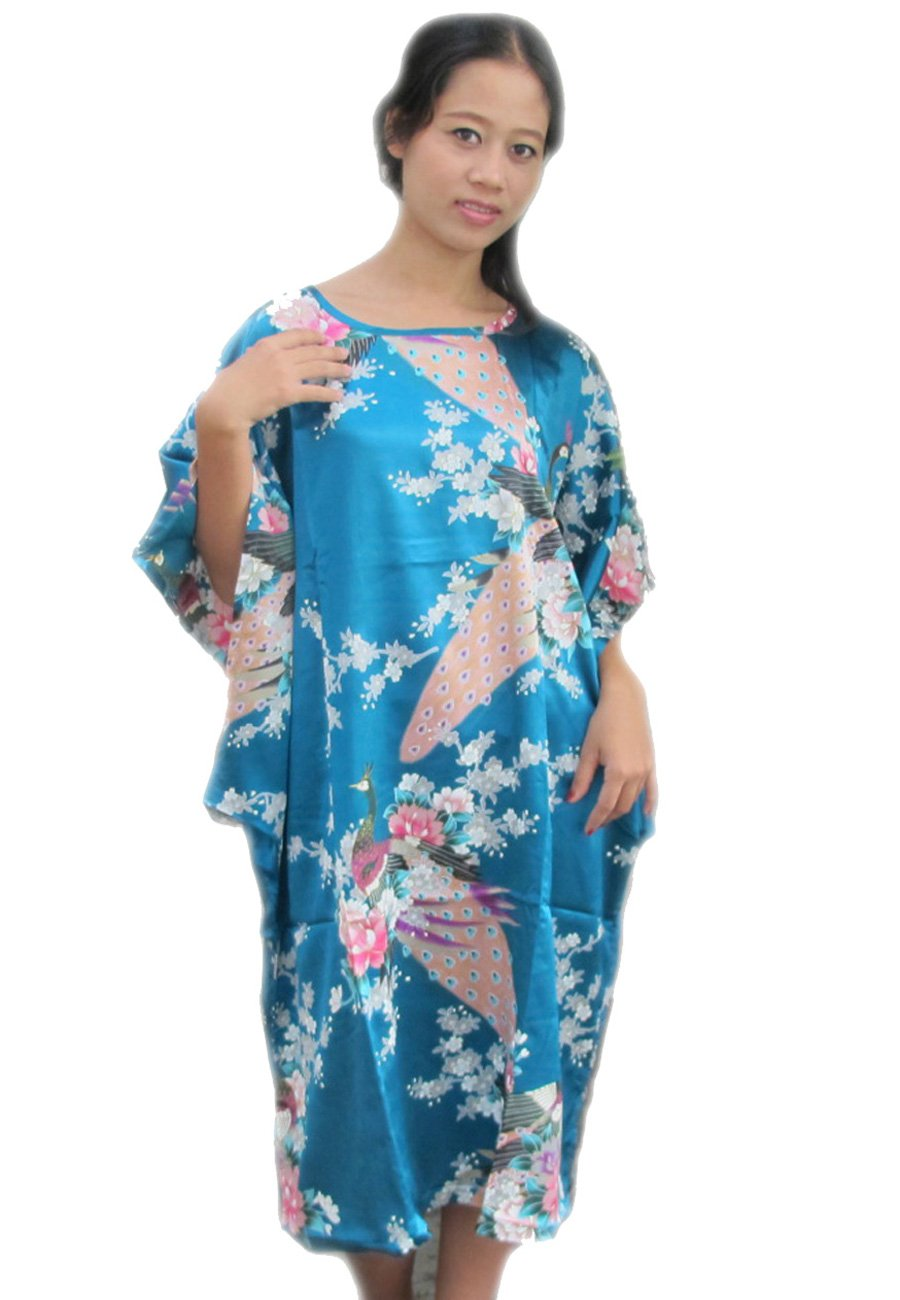 PONCHO BEAUTIFUL PICTURE PEACOCK BUTTERFLY SLEEVE FREE SIZE