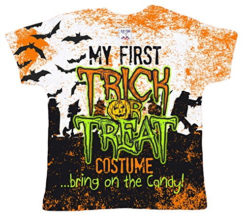 Baby Halloween Clothing Gift, My First Trick or Treat Costume, Girl T-shirt, 0-6m, (Halloween Costumes 3-6 Months Uk)