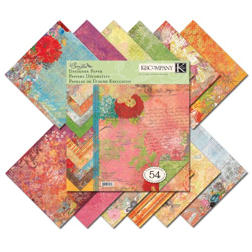 Crafting K & Company Paper (K&Company Que Sera Sera Designer 12-by-12-Inch Paper)