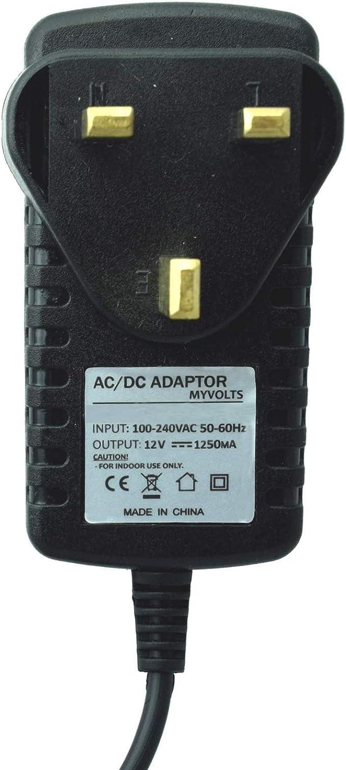 UK 12V plug MyVolts power adaptor compatible with Bontempi Keyboard PM 746