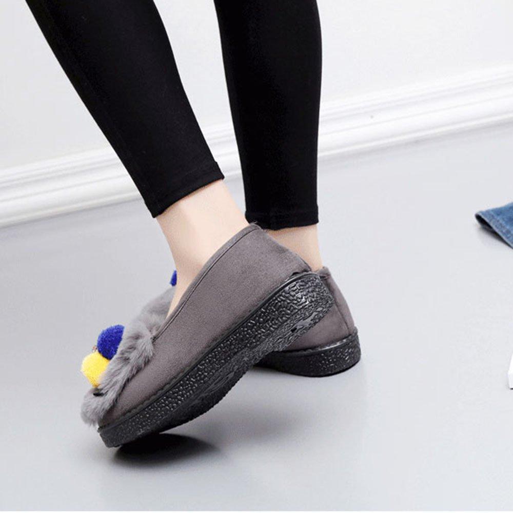 Sandalen GYHDDP Baumwolle weibliche Plattform Hausschuhe Warme Monat Schuhe Taschen erhältlich und Hausschuhe 4 Farben erhältlich Taschen Größe optional (Farbe : B, größe : 40) B ecfc02