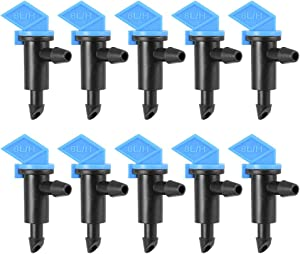 uxcell Flag Dripper 2 GPH 8L/H Emitter Sprinkler for Garden Lawn Drip Irrigation Connect 4/7mm Hose, Plastic 25pcs