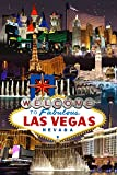 Las Vegas Casinos and Hotels Montage (9x12 Collectible Art Print, Wall Decor Travel Poster)